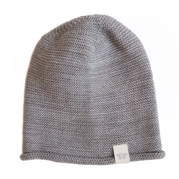 By Heritage - Birger knitted beanie - Grey melange