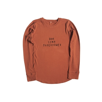 Organic Zoo - MAMA sweatshirt love - Rust