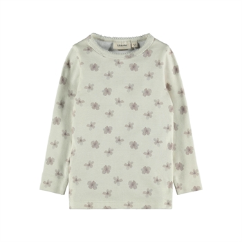 Lil' Atelier - Gaya bluse m. blomster - Turtledove
