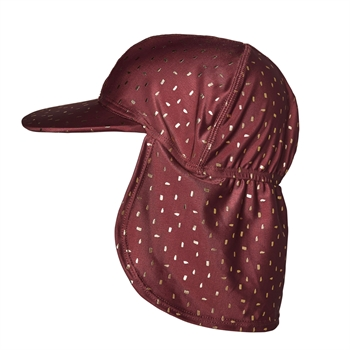 Melton - UV swim hat - Bordeaux/gold
