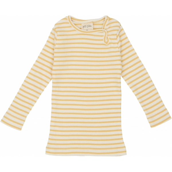 Petit Piao - Striped L/S t-shirt - Yellow striped