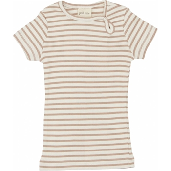 Petit Piao - Striped S/S t-shirt - Beige striped