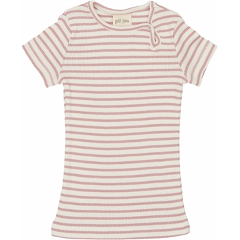 Petit Piao - Striped S/S t-shirt - Rose striped