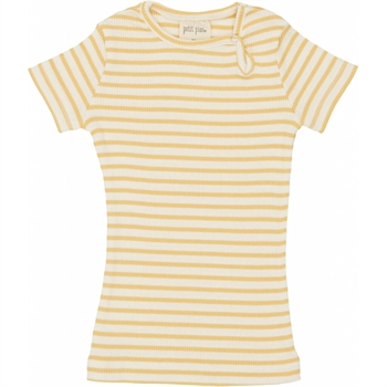 Petit Piao - Striped S/S t-shirt - Yellow striped